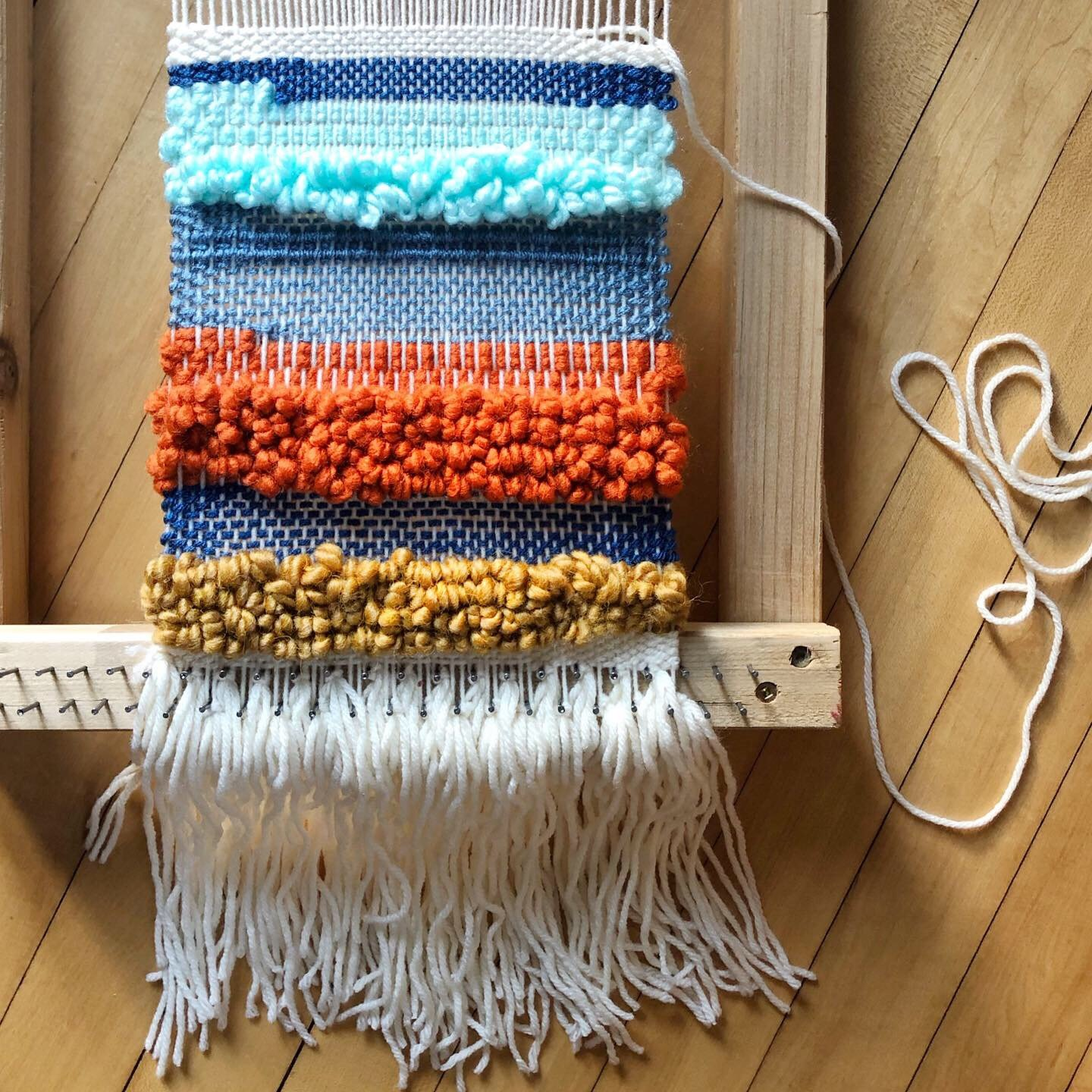 weave and loom textile art workshop example