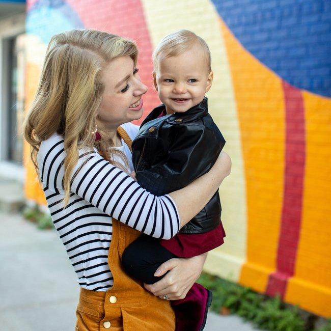 Mama + Maker Creator Kasey Hock and Daughter
