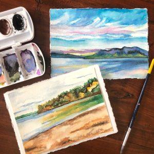 watercolor landscape painting class