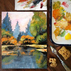 sponge painting art workshop